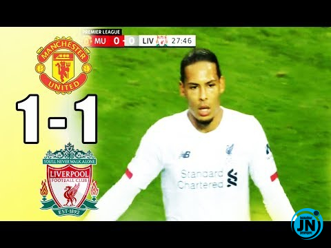 Manchester United vs Liverpool 1-1 – All Goals & Highlights